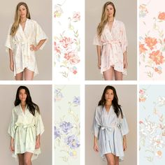 Love Ophelia's Gatsby Rompers & Bridal Robes come in Ivory, Blush, Mint, and Blue.