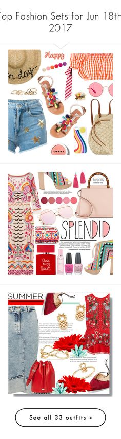 """Top Fashion Sets for Jun 18th, 2017"" by polyvore ❤ liked on Polyvore featuring Chiara Ferragni, House of Holland, Eugenia Kim, Steve Madden, Billabong, Ray-Ban, ban.do, GUESS, LORAC and Deborah Lippmann"