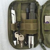 Wish | Outdoor Phone Pouch Tactical Waist Solid Pack Belt Bag EDC Wallet (Only bag,others not include)