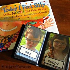 """Kids Emotions Matching Game with """"Today I Feel Silly""""."""