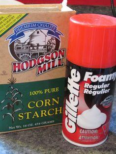 Science Matters: Shaving Cream + Corn Starch