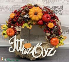 Itt az ősz kopogtató - ajtódísz, dekoráció (AKezmuvescsodak) - Meska.hu Natural, Fall Decor, Wreaths, Autumn, Home Decor, Dry Flowers, Party, Drawings, Decoration Home