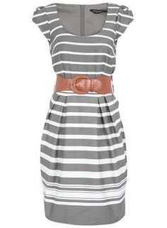 I like the dress and frequently wear wide belts. Could pair with a bright/colorful cardigan and call it a day.