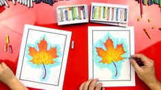 We're coloring an Autumn leaf with oil pastels, today. Download the free leaf printable, watch our video and follow along!
