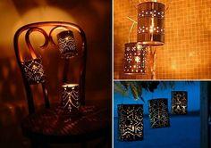 Lanterns using tin cans