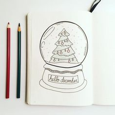 Bullet journal monthly cover page December cover page Christmas drawings Christmas globe drawing. : Bullet journal monthly cover page December cover page Christmas drawings Christmas globe drawing. Bullet Journal December, Bullet Journal Christmas, Bullet Journal Cover Page, Bullet Journal Spread, Bullet Journal Ideas Pages, Bullet Journal Layout, Bullet Journal Inspiration, Bullet Journal Months, Journal Covers