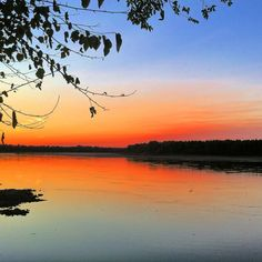 Missouri River at Sunset From New Haven MO