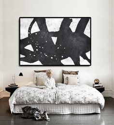 Hand Painted Extra Large Abstract Painting by CelineZiangArt