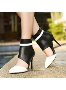 Fashion Pointed Toe Closed Stiletto High Heel Basic White PU Pumps Please allow weeks for delivery. High Heel Pumps, High Shoes, High Heel Boots, Pumps Heels, Stiletto Heels, Silver Strappy High Heels, Thick Heels, Women's Motorcycle Boots, Cheap Womens Shoes