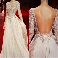 Ellie Saab. Just seem to be drawn to Ellie Saab at the moment. I like the cover up front and deep back detail.