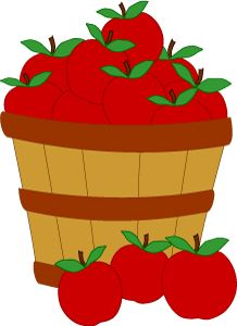 harvest basket of apples clip art