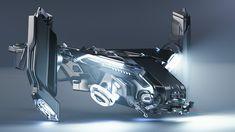 Strix Division Fortress VTOL by Rmlambert Space Ship Concept Art, Concept Ships, Concept Cars, Spaceship Art, Spaceship Design, Futuristic Art, Futuristic Technology, Susanoo, Space Fighter