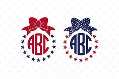 Free SVG of July SVG Bow Monogram Frames Files work with Silhouette Design Studio and Cricut Design Space Monogram Design, Monogram Letters, Monogram Stickers, Free Svg Cut Files, Svg Files For Cricut, Silhouette Design Studio, Silhouette Cameo, Cardmaking And Papercraft, Diy Craft Projects