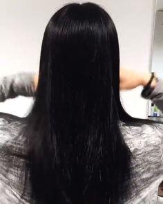 V Cut Hair, Hair Cuts, Hair Glaze, Rebonded Hair, Dark Balayage, Beauty Makeup, Hair Beauty, Dream Hair, Grow Hair