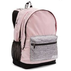 VICTORIA SECRET PINK Back pack CAMPUS BACKPACK SOLD OUT ($73) ❤ liked on Polyvore featuring bags, backpacks, pink rucksack, pink backpack, knapsack bag, victoria secret bag and victoria secret backpack