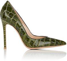 Gianvito Rossi Women's Green Alligator Pumps #highheels #aff