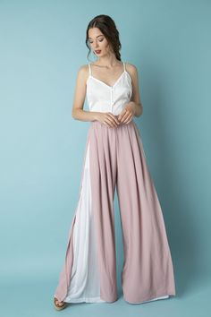 Eurosat wide-leg pants rose