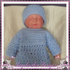 Baby boy Jumper & hat set  3 to 6 months by AngelwithinDesigns, £20.00