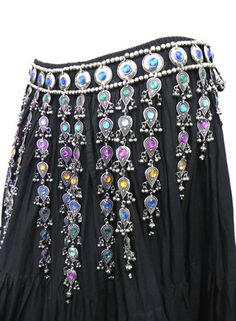 Kuchi Tribal Belt Belly Dance Hip Skirt Scarf Jewelry Ethnic Gypsy ATS Boho New | eBay