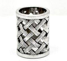 Silver Tone Weave Metal Hollow Bail Beads For Wrap Scarf Jewelry Making Finding Scarf Jewelry, Jewelry Making Beads, Jewellery, Swiss Paracord, Dreadlock Beads, Cheap Beads, Beaded Rings, Metal Beads, Jewelry Findings