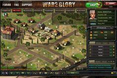 War 2 Glory - Übersicht über deinen Armee-Atützpunkt
