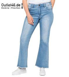 Sheego Stretch Jeans 5 Taschen Stil mit einer kleinen Stickerei auf den Gesäßtaschen Dank des Elastangehalts passen diese Hosen perfekt zur Figur angenehm zu tragen dank bester Qualität. #jeans #hose #blau #damen #outlet46 Denim Jeans, Sheego, Stretch Jeans, Bell Bottoms, Bell Bottom Jeans, Pants, Fashion, Classy Lady, Embroidery