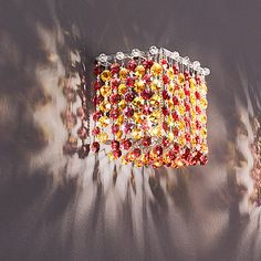 Masiero Aurea 1 Light Cube Wall Sconce Crystal Type: Asfour, Finish: Gold, Crystal Color: Saphire