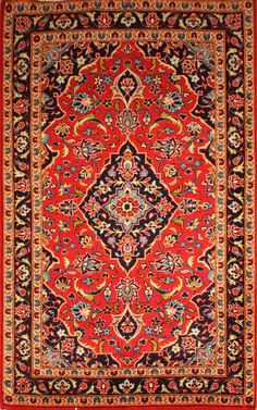 Kashan Size: 3'3 X 5'1 1970's  | Shabahang & Sons