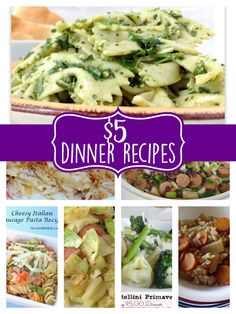 5 Dollar Dinner Ideas for Menu Planning Monday, recipes for low cost meals… Cheap Meals For Two, Cheap Easy Meals, Inexpensive Meals, Cheap Dinners, Cheap Family Dinners, Low Budget Meals, Cooking On A Budget, Frugal Meals, Food Budget