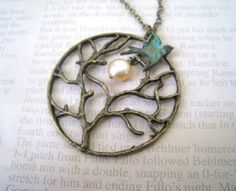 flying bird necklace by leslie