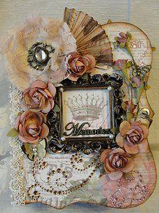 ELITE4U Susie Shabby Chic Handmade Premade Chipboard Envelope Scrapbook Album | eBay