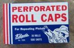 """Kilgore Perforated cap gun roll caps  More often there were boys rather than girls to play with, and so """"popping"""" caps was the least girly thing I did. And I loved it!"""