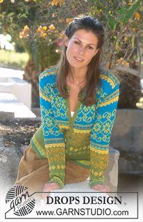Gilet DROPS en Safran et Coton Viscose ~ DROPS Design ou utiliser de la laine alpaga ou delight