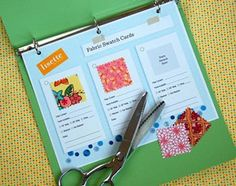 Free printable to make your fabric swatch cards