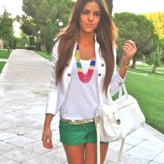 love these colored shorts!