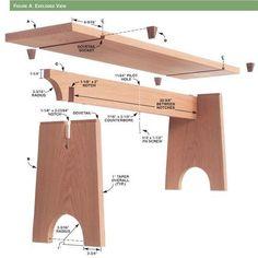 Easy Carpentry Projects - Résultat de recherche dimages pour Sliding Dovetail Bench - Woodworking Projects - American Woodworker Easy Carpentry Projects - Get A Lifetime Of Project Ideas and Inspiration! Carpentry Projects, Diy Wood Projects, Furniture Projects, Furniture Plans, Wood Crafts, Diy Furniture, Folding Furniture, Plywood Furniture, Folding Chair