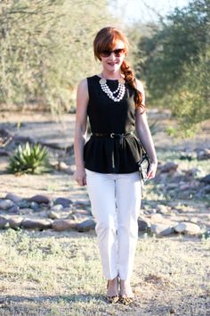 Delusions of Grandeur: Black peplum and pearls