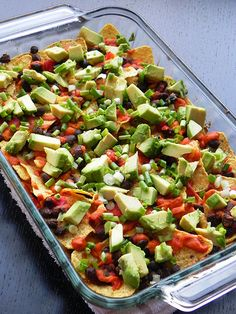 Healthy Loaded Black Bean Nachos | Chef Amber Shea