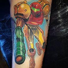 Metroid tattoo done by @prhymesuspect. #tattoo #tattoos #ink #videogametattoo #gamertattoo #gamerink #videogames #gamer #gaming #nintendo #nes #snes #supernintendo #n64 #gamecube #wii #wiiu #samusaran #metroid #samusarantattoo #metroidtattoo #nintendotattoo