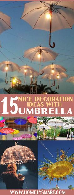 Umbrella is less likely the thing we think of when it comes to decorating. But these ideas will change your mind! See more via homelysmart.com