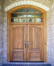 Country French Exterior Front Entry Doors DbyD-2001 + arched transom