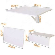 51,34€ - SoBuy Mesa de cocina, mesa de madera, mesa plegable de pared, mesa de comedor, escritorio, mesa, plegable 2x, 80x60cm FWT02 (rojo)