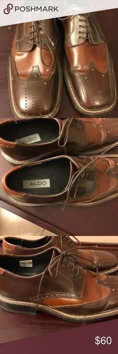 Men's Aldo shoes. Men's brown leather Aldo Vero Cuoio shoes. In good condition, only worn once. Aldo Shoes Oxfords & Derbys