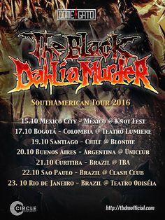 THE BLACK DAHLIA MURDER confirma nuevas fechas en Suramérica para el 2016