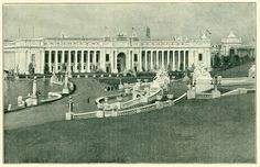 South Front of The Palace of Education and Social Economy from the Cascade Gardens. 1904 World's Fair