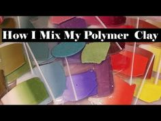 Polymer clay beads and beading Polymer Clay Canes, Polymer Clay Projects, Clay Crafts, Polymer Clay Jewelry, Color Blending, Color Mixing, Clay Videos, Clay Design, Clay Flowers