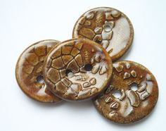 Love the Alien Ceramic Buttons by buttonalia on Etsy, $10.00