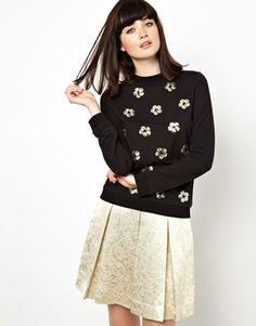 Boutique by Jaeger Sweatshirt in Floral Sequin