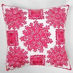 (73) Fab.com | Mesmerizing Poufs And Pillows Love, embroidered hot pink pillow case moroccan motif