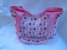 Toddler Tote in Chevron and Pink by lizzysueandher2 on Etsy, $19.99